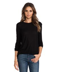 T By Alexander Wang | Black Slub Classic Long Sleeve Tee | Lyst