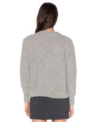 Tejido - Gray Alpaca Fringe Sweater - Lyst