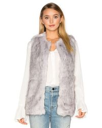 Unreal Fur - Gray Silver Lining Faux Fur Vest - Lyst