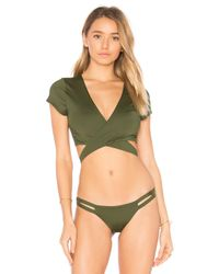 Vitamin A | Green Ballerina Wrap Top | Lyst