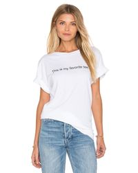Wildfox - White My Favorite Tee - Lyst