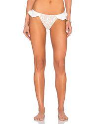 For Love & Lemons - White St. Tropez Bikini Bottom - Lyst
