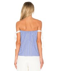 RTA - Blue Josephine Off Shoulder Top - Lyst