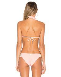 Beach Bunny - Multicolor Got Me In Chains Tri Bikini Top - Lyst