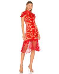 Thurley - Pink Rose Ceremony Midi Dress - Lyst