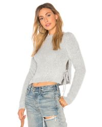 MAJORELLE - Gray Marjorie Sweater In Blue - Lyst