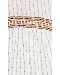 Michael Stars - White Dobby Stripe Dress - Lyst