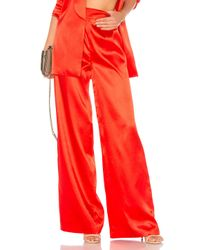 House of Harlow 1960 - Red X Revolve Charlie Wide Leg Pant - Lyst