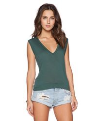 Michael Lauren - Green Jerry V Neck Tank - Lyst