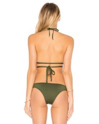 Vitamin A - Green Serra Keyhole Wrap Top - Lyst