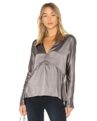 Elizabeth and James | Gray Ophelie Blouse | Lyst