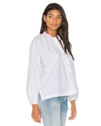 Free People - White Hey Baby Top - Lyst
