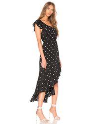 1.STATE - Black Ruffled Hi Lo Dress - Lyst