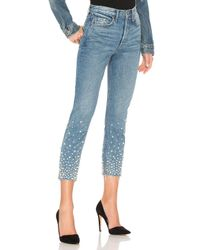 GRLFRND - Blue Karolina Embellished High-rise Skinny Jean - Lyst