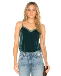 Free People | Green Velvet Solid Tank | Lyst