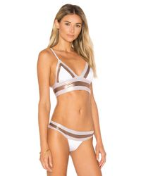 Beach Bunny - White Tequila Sunrise Long Line Bralette Bikini Top - Lyst