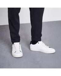 River Island - White Perforated Lace-up Trainers White Perforated Lace-up Trainers - Lyst