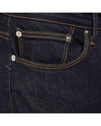 River Island - Blue Dark Wash Turn Up Sid Skinny Stretch Jeans for Men - Lyst