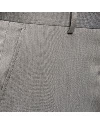 River Island - Gray Grey Smart Slim Trousers for Men - Lyst