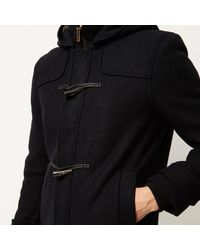 River Island - Black Only & Sons Duffle Winter Coat for Men - Lyst