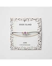 River Island | Purple June Birthstone Chain Bracelet | Lyst
