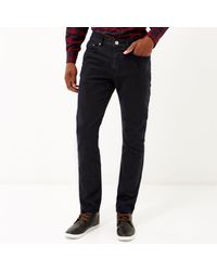 River Island - Blue Navy Skinny Suit Trousers for Men - Lyst