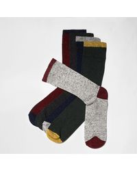 River Island | Red Neppy Contrast Ankle Socks Multipack Red Neppy Contrast Ankle Socks Multipack for Men | Lyst