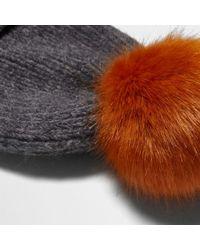 River Island - Gray Light Grey Pom Pom Beanie Hat Light Grey Pom Pom Beanie Hat - Lyst