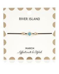 River Island - Blue March Birthstone Bracelet - Lyst