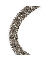 River Island - Metallic White Twist Necklace - Lyst