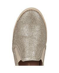 River Island - Yellow Gold Espadrille Plimsolls - Lyst