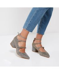 River Island - Multicolor Metallic Strappy Mary Jane Shoes - Lyst