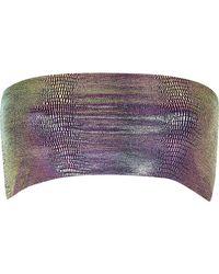 River Island | Green Metallic Mermaid Bandeau Bikini Top | Lyst