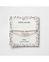 River Island | White April Birthstone Chain Bracelet | Lyst