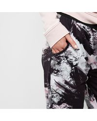 River Island - Gray Grey Abstract Print Joggers - Lyst
