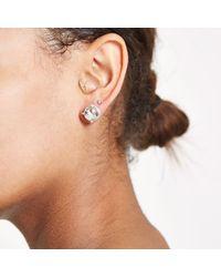 River Island - Metallic Silver Tone Jewel Stud Earrings - Lyst