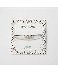 River Island - Green August Birthstone Chain Bracelet - Lyst