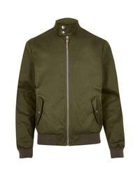 River Island | Green Casual Funnel Neck Harrington Jacket for Men | Lyst