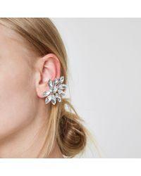 River Island - Metallic Silver Tone Diamante Ear Cuffs Silver Tone Diamante Ear Cuffs - Lyst