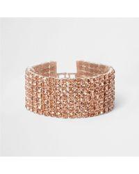 River Island | Multicolor Rose Gold Tone Cup Chain Bracelet Rose Gold Tone Cup Chain Bracelet | Lyst