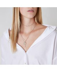 River Island - Multicolor Rose Gold Tone Circle Choker Set - Lyst