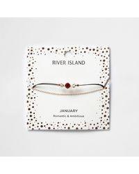 River Island | Red July Birthstone Chain Bracelet | Lyst