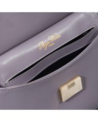 Roger Vivier | Purple Viv' Cabas Mini In Leather | Lyst