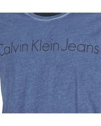 Calvin Klein Jeans - Blue Tenim T Shirt for Men - Lyst