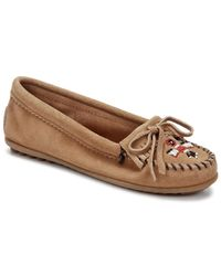Minnetonka - Brown Thunderbird Ii Women Moc Toe Leather Moccasins - Lyst