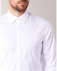 Armani Jeans - White Quenot Long Sleeved Shirt for Men - Lyst