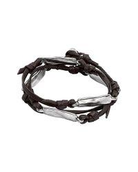 Uno De 50 - Metallic Por Los Clavos Silver Bracelet - Lyst