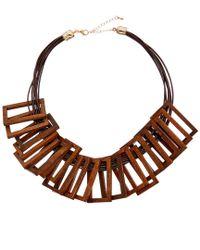 Kenneth Jay Lane - Multicolor Silk & Wood Necklace - Lyst