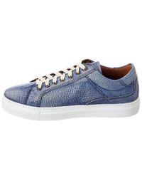 Donald J Pliner Blue Donald J Pliner Addo Leather Sneaker