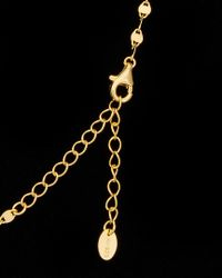 Argento Vivo - Black 18k Over Silver Cz Bling Chain Disc Necklace - Lyst